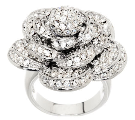 Wendy Williams Dimensional Pave' Rose Ring