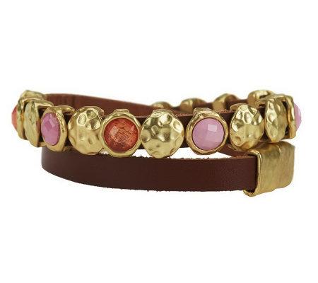 susan graver leather wrap bracelet page 1