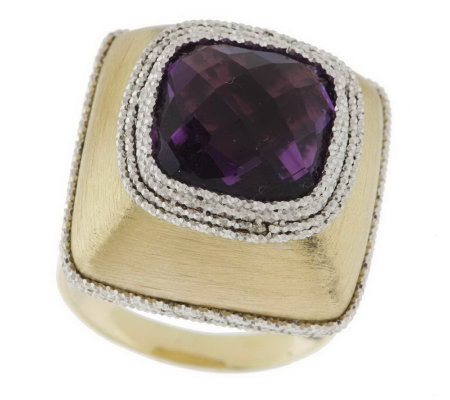 """As Is"" Vicenza Gold 5.00 ct Gemstone   Two- tone Ring, 14K"