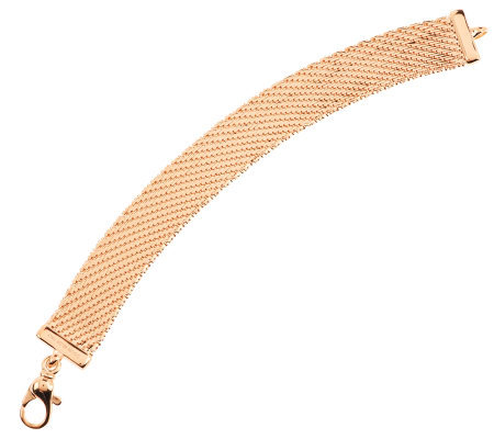 """As Is"" Bronzo Italia 7-1/2"" Bold Diamond Cut Riccio Bracelet"