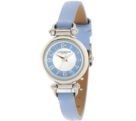 Liz Claiborne New York Horsebit Skinny Strap Watch