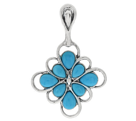 Carolyn Pollack Sleeping Beauty Turquoise Sterling Enhancer