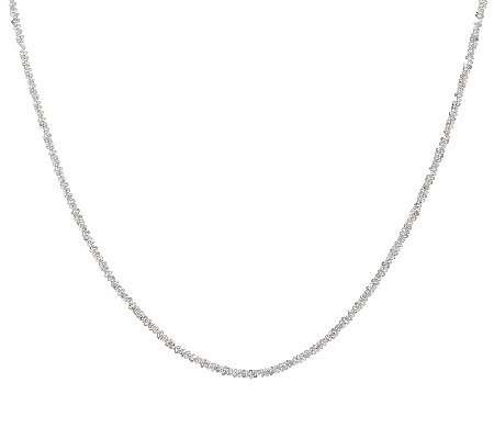 "UltraFine Silver 16"" Margherita Chain Necklace, 5.0g"