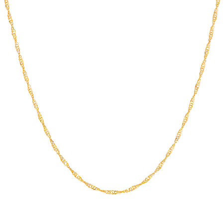 "VicenzaGold 18"" Singapore Chain Necklace 14K Gold"