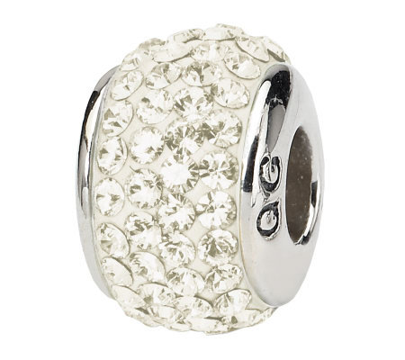 Prerogatives Sterling Cream Full Swarovski Crystal Bead