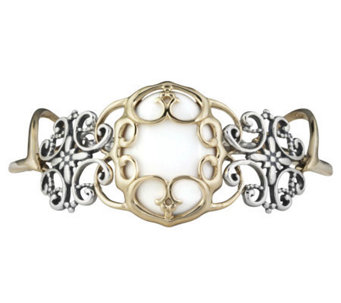 Carolyn Pollack Sterling Twilight White Agate Bracelet - J303927