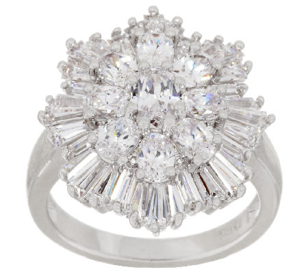 The Elizabeth Taylor 3.70cttw Simulated Diamond Cluster Ring