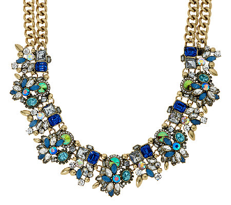"Joan Rivers Crystal Collage Statement Necklace with 3"" Extender"