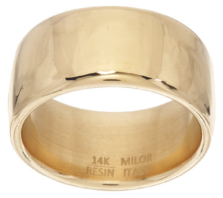 Oro Nuovo Polished Band Ring 14K