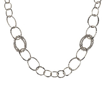 """As Is"" Michael Dawkins Sterl. Granulation Drop 20"" Necklace - J330127"