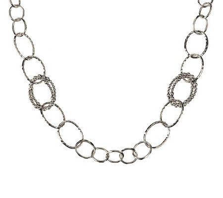 """As Is"" Michael Dawkins Sterl. Granulation Drop 20"" Necklace"