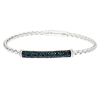 """As Is"" Woven Diamond Bracelet Sterling 5/8 ct by Affinity - J331327"