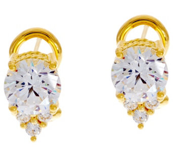 Judith Ripka 14K Clad 2.85 cttw Diamonique Cherry Earrings - J333427