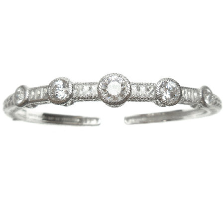 Judith Ripka Sterling 5-Stone 118-Facet Diamonique Cuff