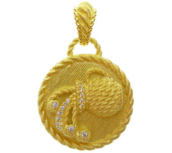Judith Ripka Sterling and 14K Clad Diamonique Zodiac Enhancer - J338127