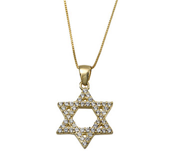 Adi Paz Crystal Star of David Pendant with Chain, 14K Gold - J338327