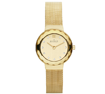 Skagen Women's Goldtone Mesh Bracelet Watch