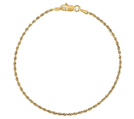 Diamond-Cut Rope Bracelet, 14K Gold