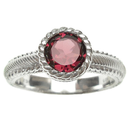 Judith Ripka Sterling 1.00cttw Rhodolite Soliatire Ring