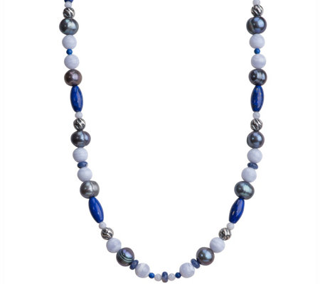 "Carolyn Pollack Sterling Blue Gemstone 30"" Necklace"