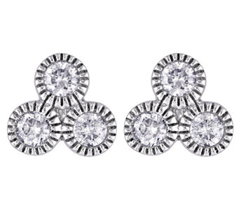 Diamond Stud Earrings, 14K White Gold, 3/10 cttw, by Affinity - J344027