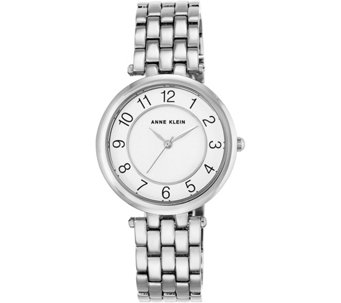 Anne Klein Women's Silvertone Bracelet Watch - J344727