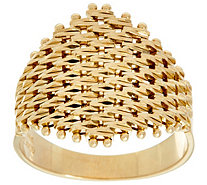 Imperial Gold Lame' Marquise Shaped Ring 14K Gold - J348727