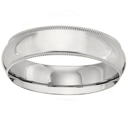 Men's Platinum 6mm Milgrain Wedding Band