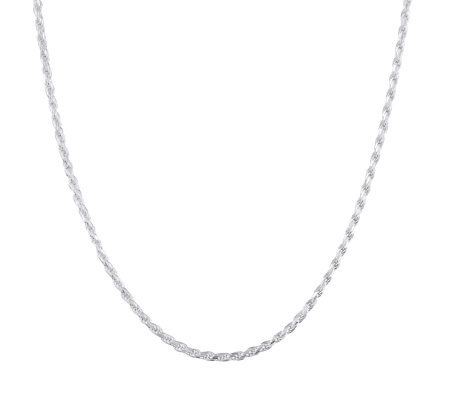 "UltraFine Silver 24"" Rope Chain, 16.5g"