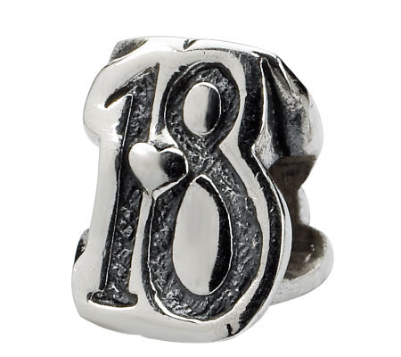Prerogatives Sterling Silver Sweet 18 Bead