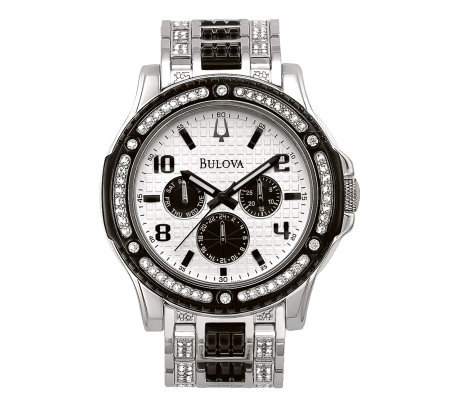 Bulova Men's Crystal Day/Date Watch