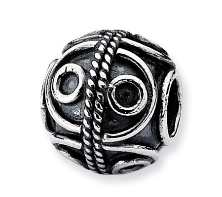 Prerogatives Sterling Round Artisan Bead