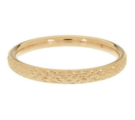 """As Is"" Oro Nuovo Avarage Textured Round Bangle, 14K Gold"