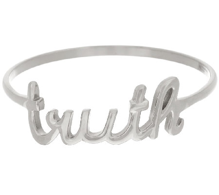 Stainless Steel Truth Script Bangle