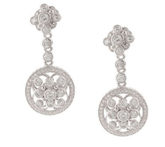 Judith Ripka Sterling Diamonique Drop Earrings - J298028