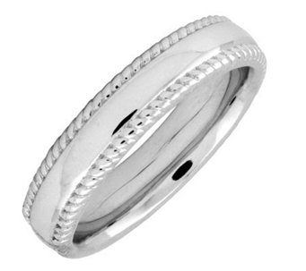 Simply Stacks Sterling 4.25mm Ribbed-Edge Ring - J298128