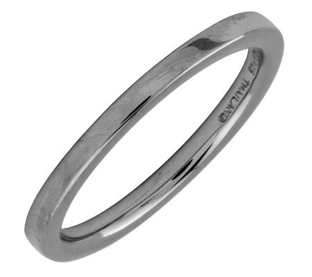 Simply Stacks Sterling Black Rhodium-Plated 2.25mm Flat Ring