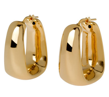 Veronese 18K Clad Tapered Square Hoop Earrings