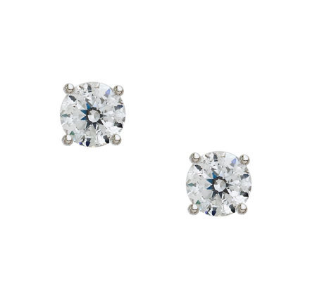 Epiphany Diamonique 100-Facet 1.50 ct tw RoundStud Earrings