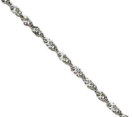 "Steel by Design 2.0mm 18"" Singapore Chain Necklace"