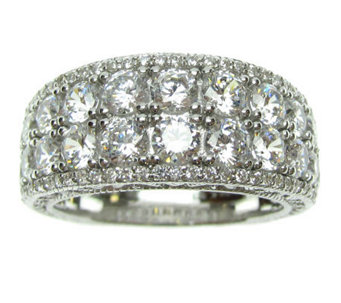 Judith Ripka Sterling Diamonique Band Ring - J311128