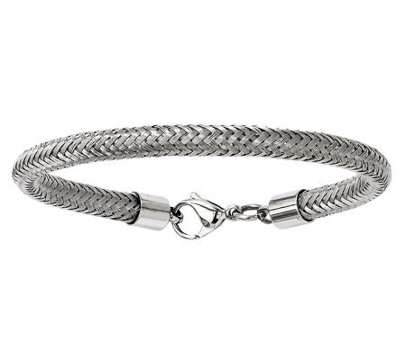 "Stainless Steel 8-1/2"" Woven Mesh Wire Bracelet"