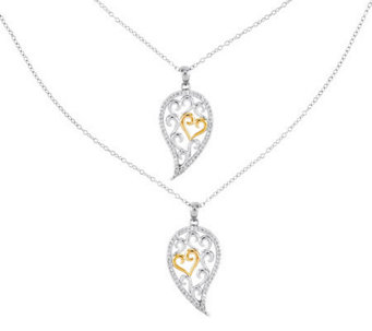 "Sentimental Expressions Set of Two Sterling 18""Necklace - J315028"