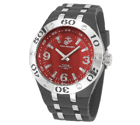 Wrist Armor Men's U.S. Marine Corps C22 Red & Black Watch