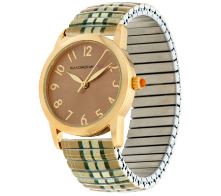 Isaac Mizrahi Live! Plaid Expansion Watch