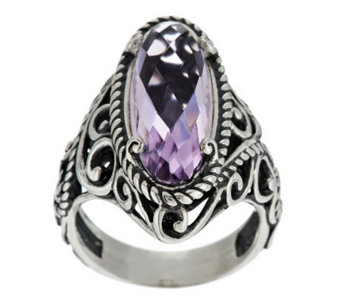 """As Is"" Carolyn Pollack Signature Sterling & Rose de France Ring - J325928"