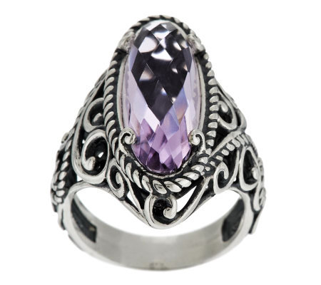 """As Is"" Carolyn Pollack Signature Sterling & Rose de France Ring"