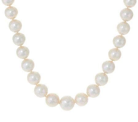 "Honora 14K Gold 12.0mm - 15.0mm White Ming Cultured Pearl 20"" Necklace"