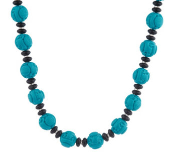 """As Is"" Kenneth Jay Lane's Great Wall Bead Necklace - J330828"