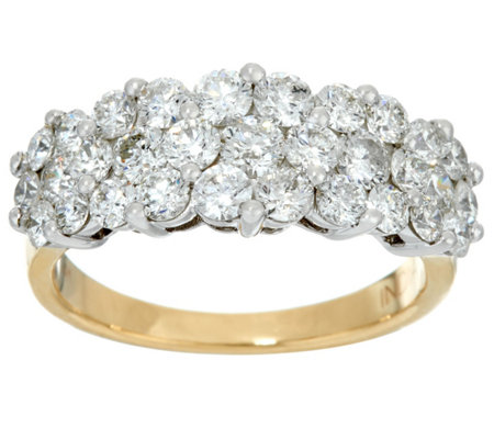 Round Diamond Cluster Band Ring, 14K, 2.00 cttw, by Affinity